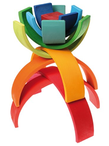 Grimm wooden rainbow stacker Nesting Puzzle
