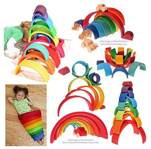 Grimm's wooden rainbow stacker