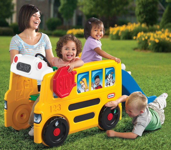Little Tikes School Bus Activity Gym toy