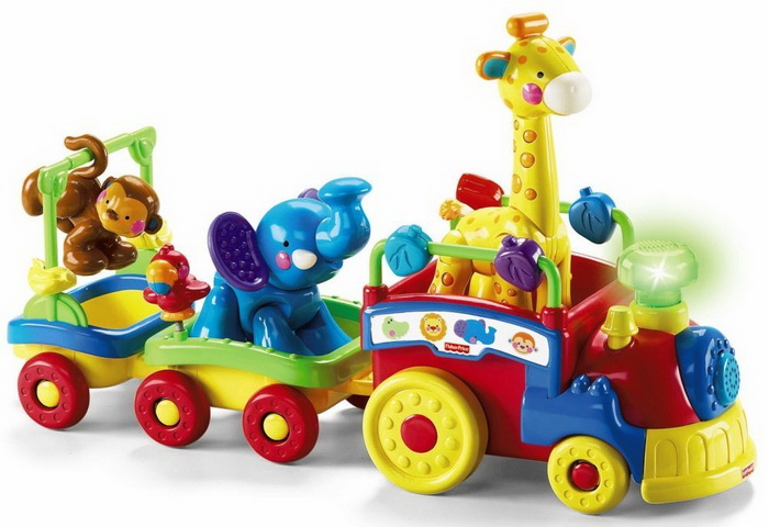Fisher-Price Amazing Animals Sing and Go Choo-Choo developmetal toy