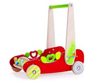 Hape eco push and walk activity wagon for babies