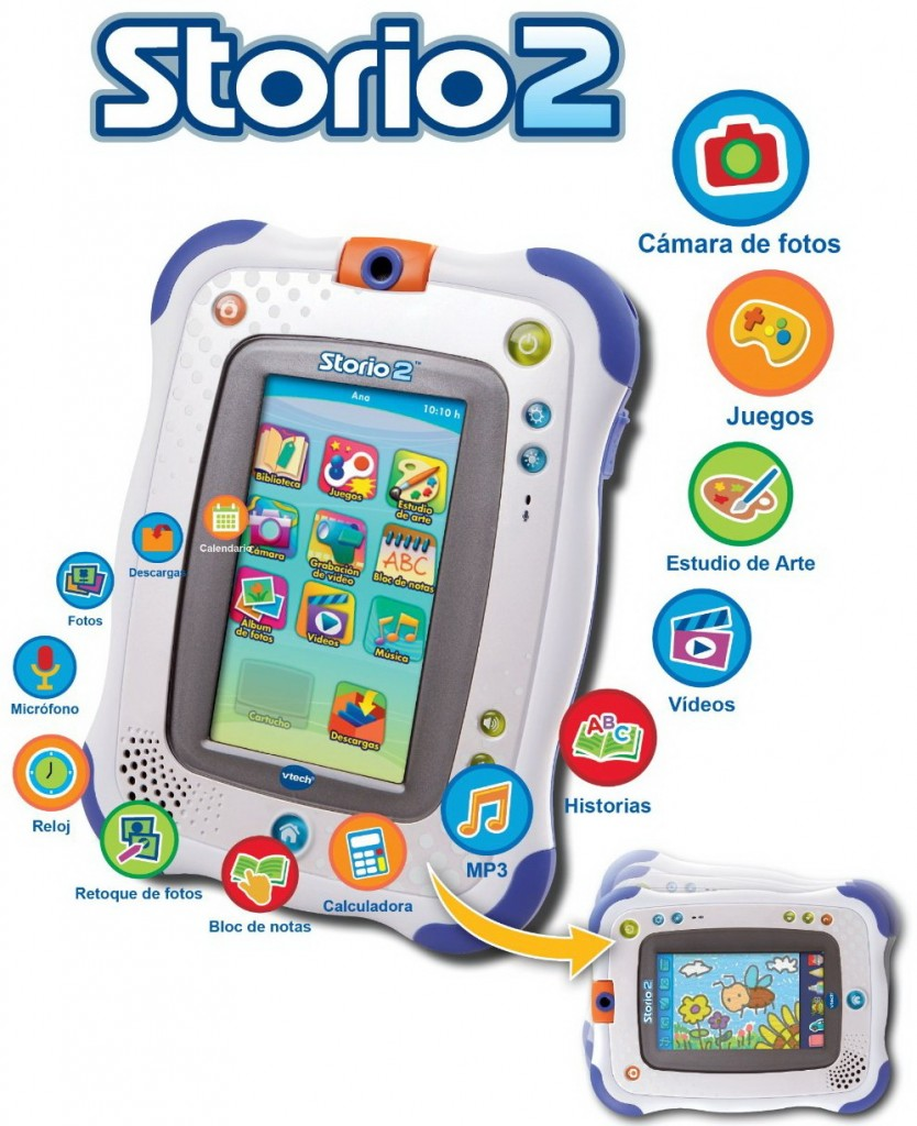 Storio 2 Tablet con Rufus Game for children for kids