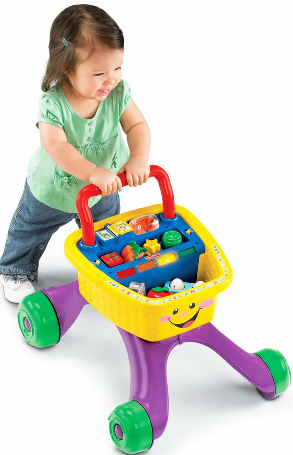 Fisher-Price Laugh and Learn Shop and Learn Walker for toddlers