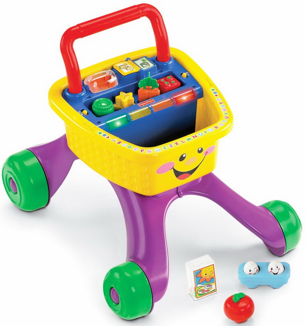 Fisher-Price Laugh & Learn Shop and Learn Walker toy for kids