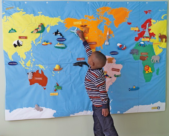 Large World map for children