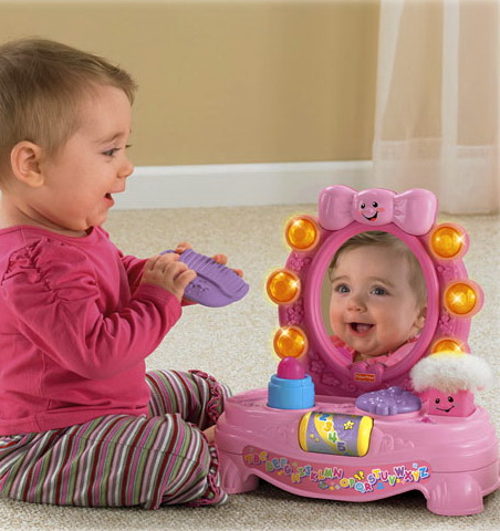 Magical musical mirror product for infants