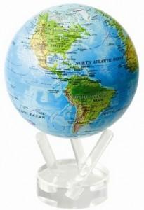 Mova Globe Revolving Blue Ocean Relief Map