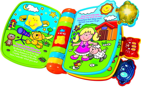 Rhyme and discover book toy for child