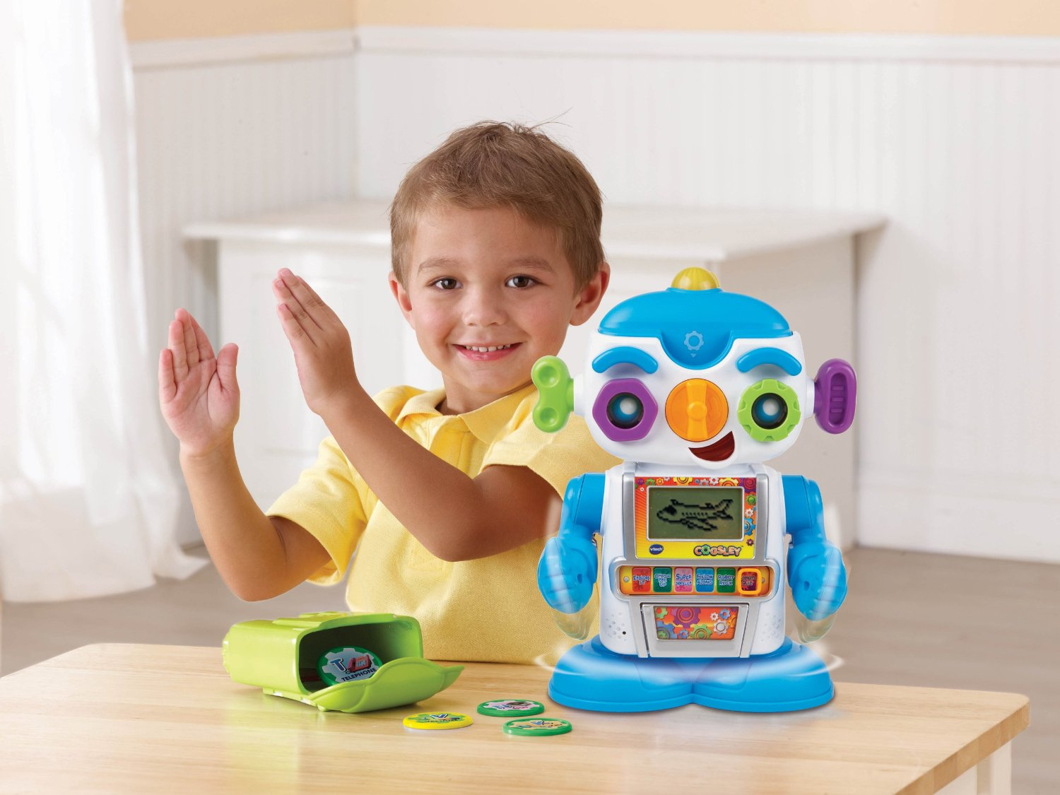 Talking robot-toys for 2-3 years old children 2015
