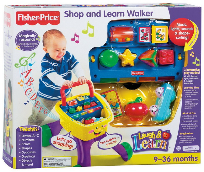 Fisher Price Laugh & Learn Shop and Learn Walker Toy