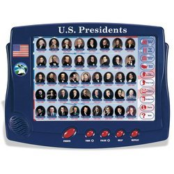Interactive U.S. presidents game and toy