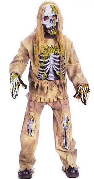 Boys' skeleton zombie dress