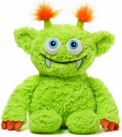 Green scary monster stuffed